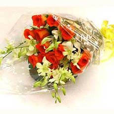 12 Assorted flowers Red